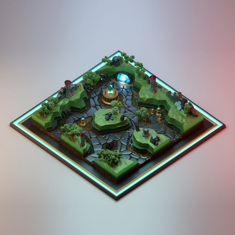 LowPoly 3d Ilustration